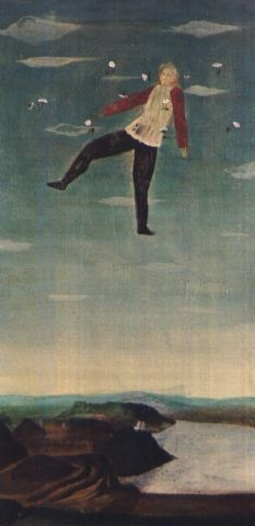 Toshio Arimoto - Ensemble (1975)   __ oil on canvas laid on panel
