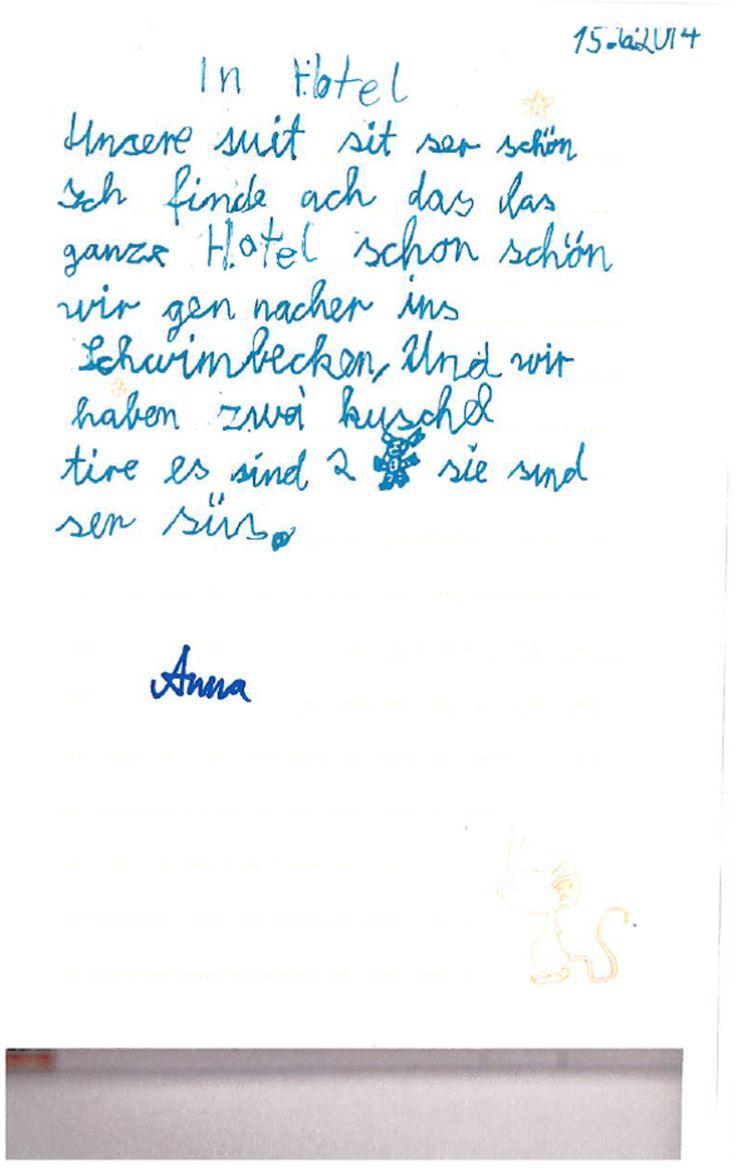 Die kleine Anna war heute so lieb und hat uns ihren Tagebucheintrag gezeigt. In Zeiten von #Onlinebewertungen erlebt man so etwas zuckersüßes auch nicht alle Tage. Liebe Anna, ganz herzlichen Dank! Wir freuen uns sehr, dass es dir bei uns gut gefällt :-) #Hotelbewertung #Hotelbewertungen #Feedback #suess #zuckersuess #lieb #kritik #tagebuch #tagebucheintrag #Golf #Resort #Achental #Golfresort