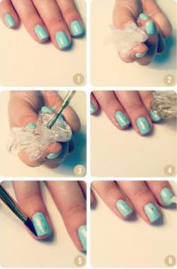 Turquoise and Gold Stone 198x300 7 Easy Nail Art Techniques to Use for Nail Designs