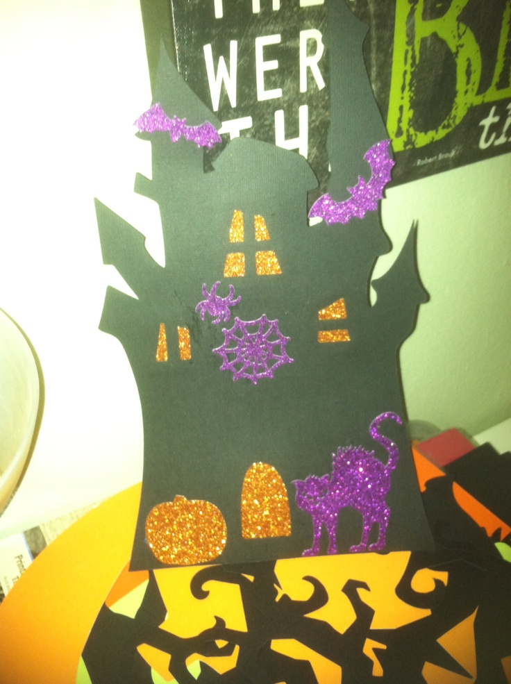 halloween decoration for a halloween party made by cricut