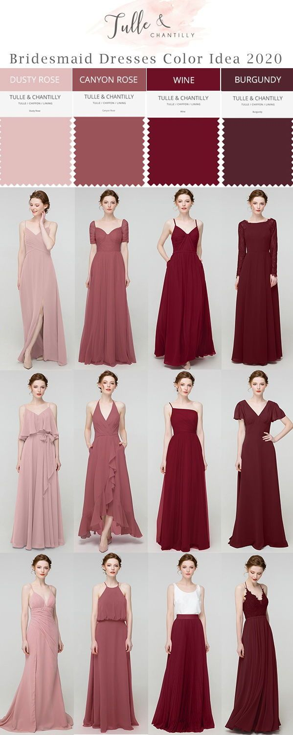 Long Short Bridesmaid Dresses 80 149 Size 2 30 And 50 Colors In 2020 Red Bridesmaid Dresses Maroon Bridesmaid Dresses Mismatched Bridesmaid Dresses