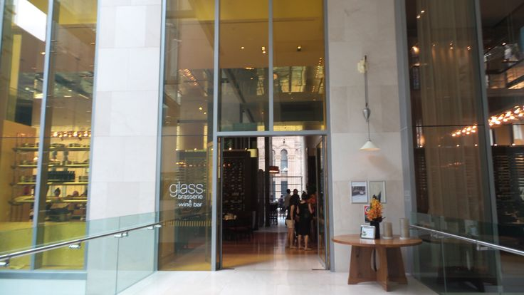 Entrance to the Glass Brasserie at the Hilton Sydney Hotel