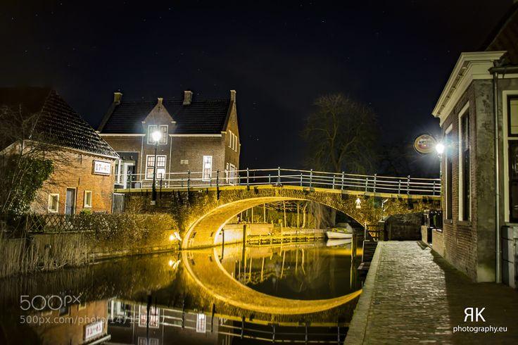 De Boog Winsum by Night by RKphotographer