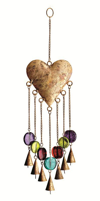 Watch our Heart Windchimes move gracefully in the wind