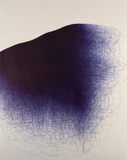 loreca:  IL LEE, BL-094, 2008, ballpoint pen on canvas, 60 x 48 inches (152.4 x 121.9cm)