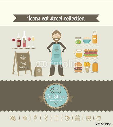 Tendance Food Truck. Découvrez une série de pictos pour la eat street fashion