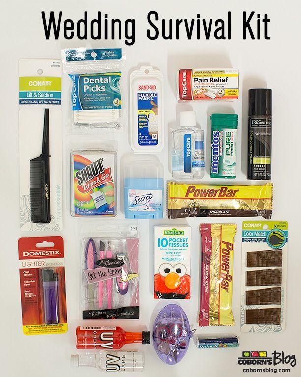 Wedding survival kit makes a great bridal shower or for Wedding bathroom kit