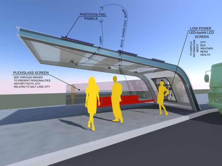 nextstopdesign.com | Viewing Design | Solar powered bus station