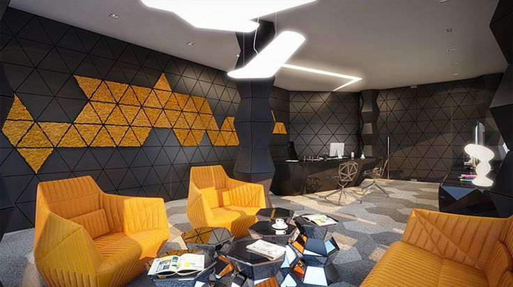 Geometrix Design is an interior design duo and one of their recent projects is the Rompharm Office. A Futuristic looking geometric office sp...