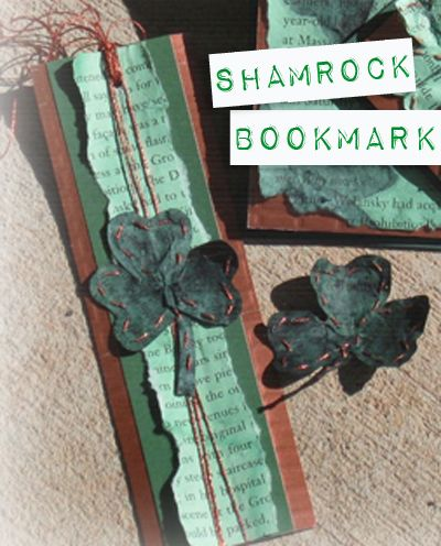"Create a St. Patty's Day ""Luck of the Irish"" Bookmark for a Special Friend! 