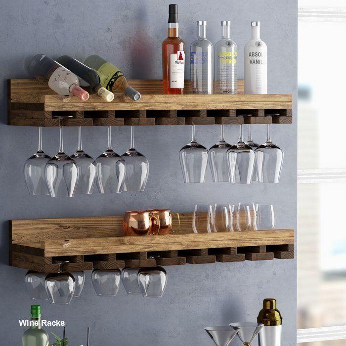 14 Diy Wine Racks Made Of Wood Kelly S Diy Blog In 2020 Wine Rack Design Wall Mounted Wine Rack Wine Glass Rack