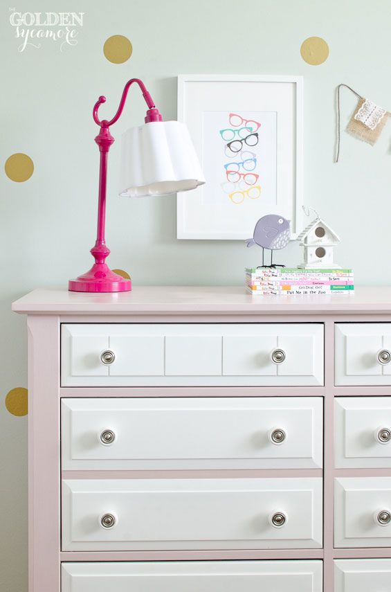 Pink And White Chalk Painted Dresser Antoinette Bedroomss