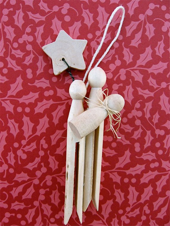 TUTORIAL PDF Clothespin Nativity Ornament by sweetmellyjane, $3.00
