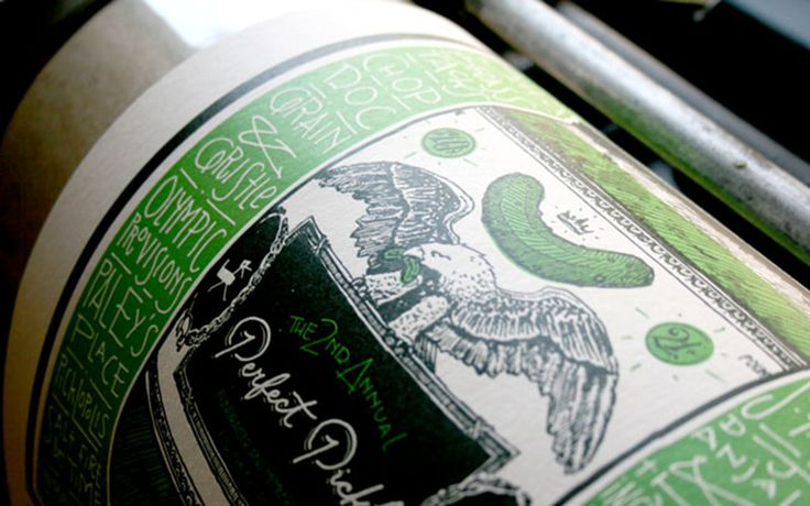 Dill Pickle Club Fundraising Poster - Click to see other pictures of letterpress printing process