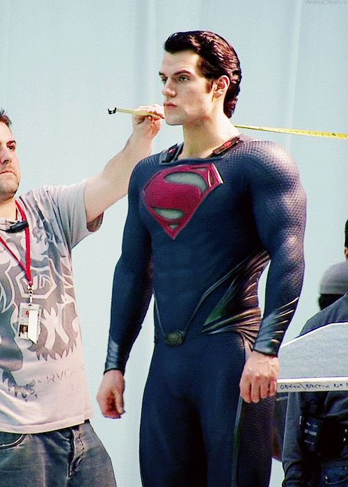 """It [suit] has like an almost physical energy about it and it affects people. People will, you know, stand straight or will go ""hey, man"" when they see you in the suit where you walk pass them before not in a suit and they say, ""hey."" It's something I can't quite put a word to."" Henry Cavill on wearing the Superman suit."