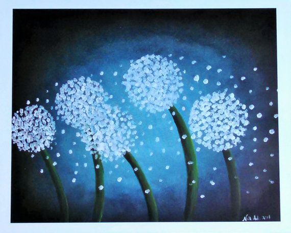 Wishes in the Wind Dandelions Art Print by NicoleInStitches