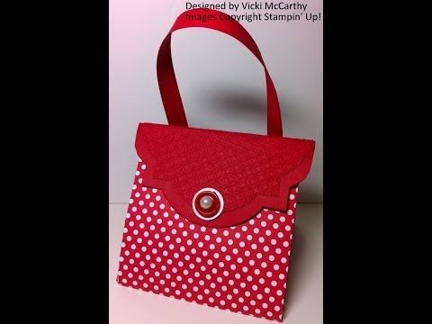 Bright, Beautiful Boxes Exploding Purse.Stampin' Up! Australia. - YouTube