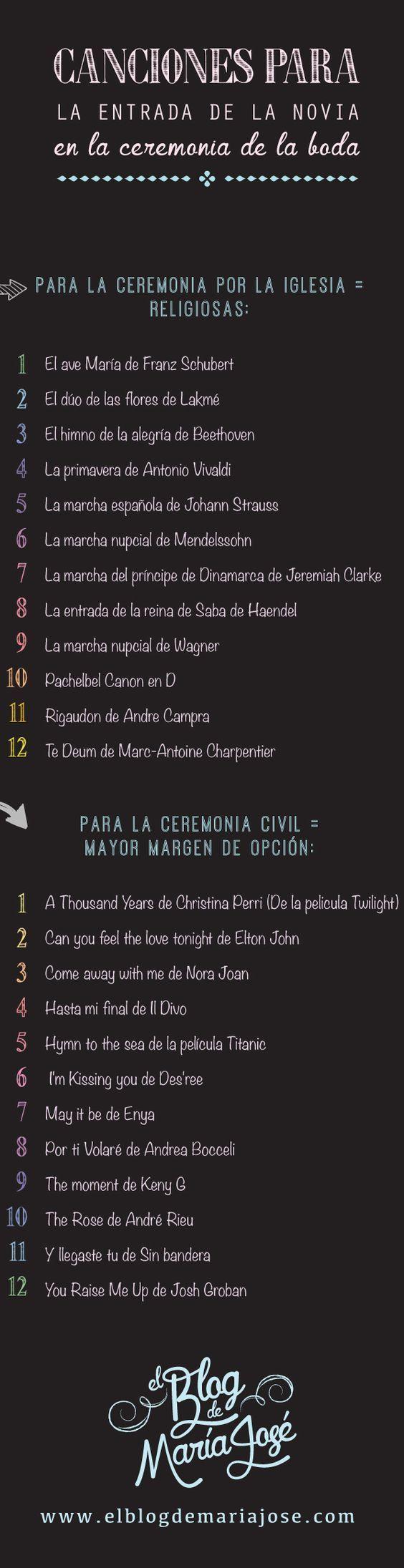 Canciones para la entrada de la novia en la ceremonia de la boda – #boda #Cancio…