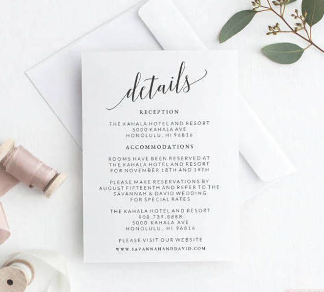 Wedding Details Card Template Wedding Detail Card Printable Wedding Details Insert Wedding Inform Wedding Details Card Wedding Details Wedding Itinerary
