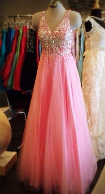 Pink Prom Dress,Beaded Prom Dress,Fashion Prom Dress,Sexy Party