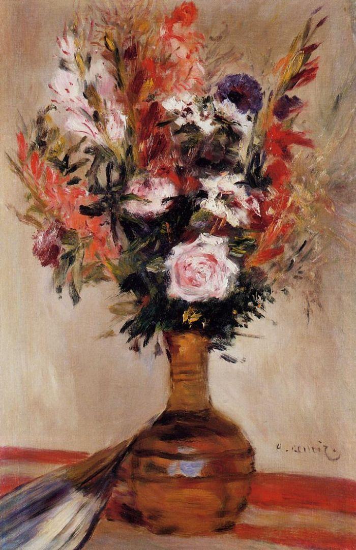 Roses in a Vase : Pierre Auguste Renoir : Museum Art Images : Museuma