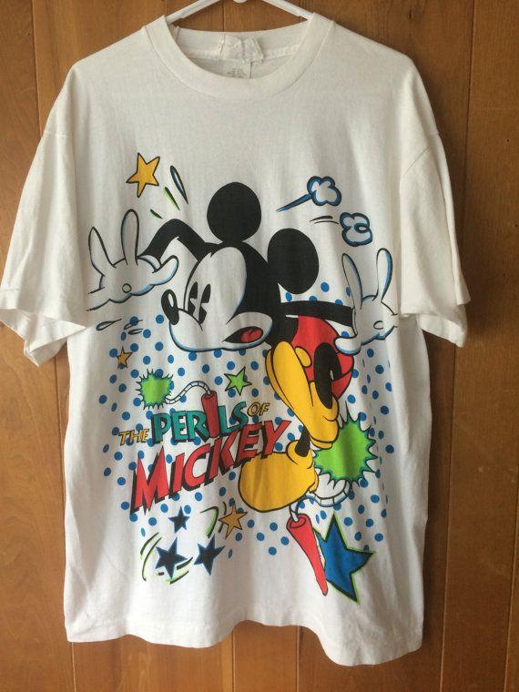 vintage t shirt  Minnie Mouse shirt  90s Disney tee  1990s Minnie Mouse all over print Disney Originals t shirt Large