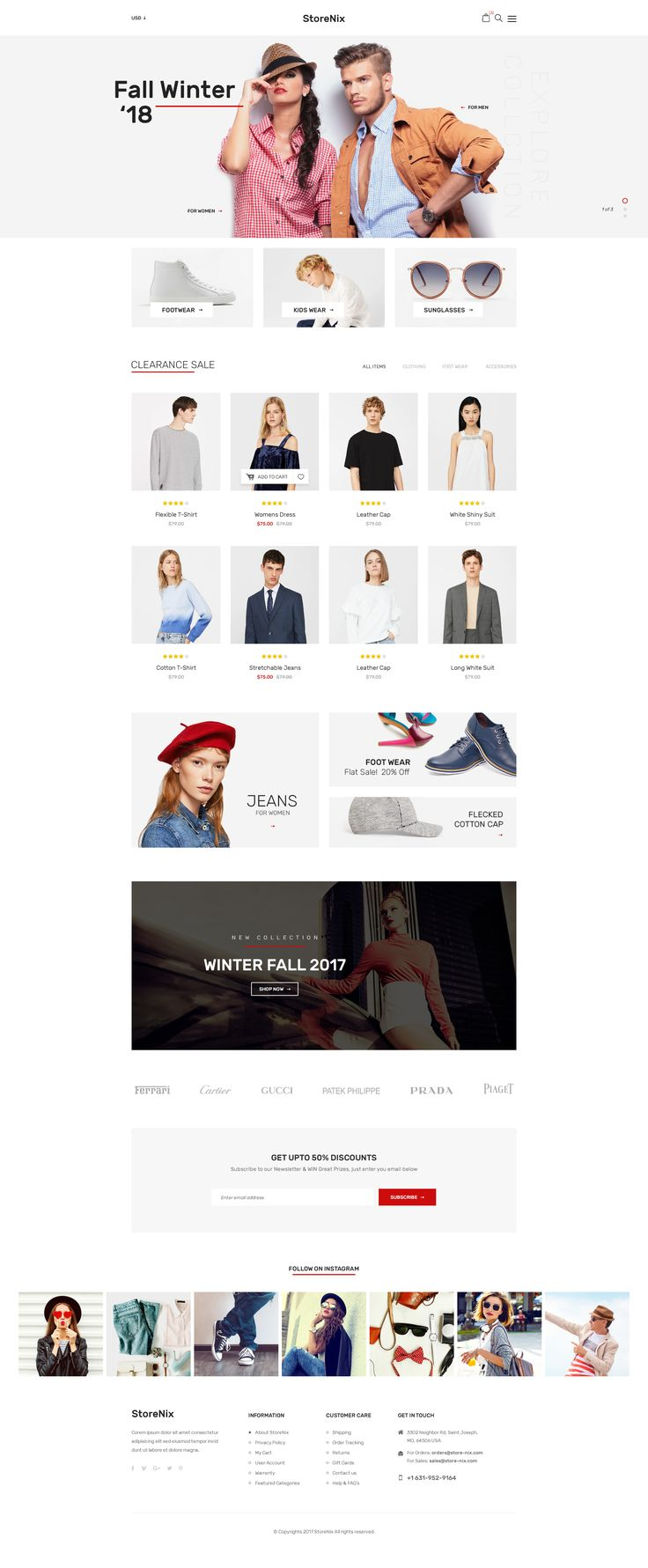 StoreNix - Multipurpose Ecommerce PSD Template #clean #clothes #electronics • Download ➝ https://themeforest.net/item/storenix-multipurpose-ecommerce-psd-template/20608874?ref=pxcr  - No site #ThemeForest encontra os melhores #Templates & #Plugins para #Wordpress. Confira em http://www.estrategiadigital.pt/themeforest-templates-wordpress/