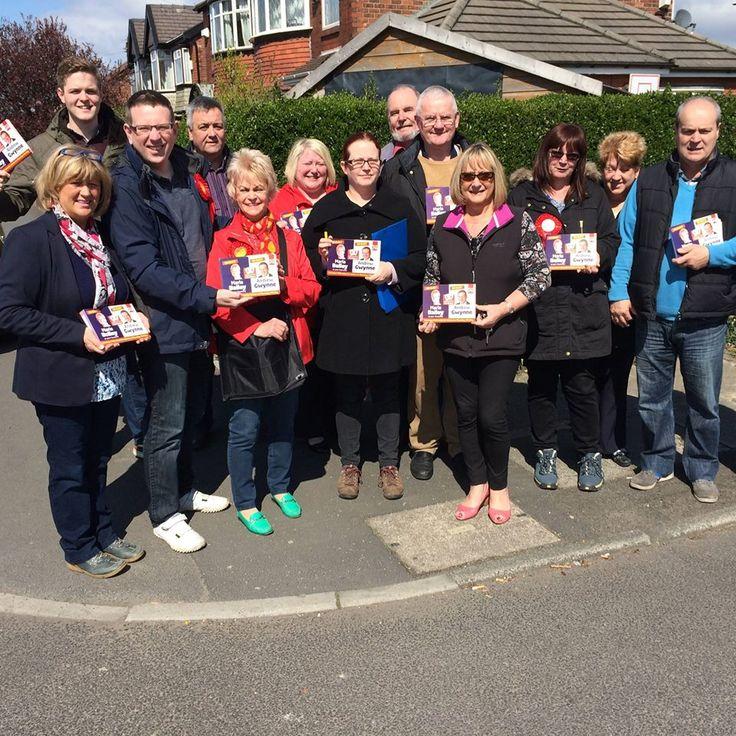 Postal Vote leaflet drop in Audenshaw #Labourwinninghere Cllr Maria Bailey
