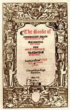 """""""The Prayer Book of 1559 was the third revision for the Anglican Church, and was brought about by the accession to the throne of Elizabeth I and the restoration of the Anglican Church after the six-year rule of the Catholic Queen Mary. It was in use much longer than either of its predecessors - nearly 100 years, until the Long Parliament of 1645 outlawed it as part of the Puritan Revolution."""""""
