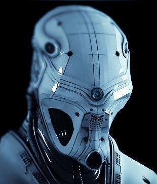 JOJO POST DIGI: HELMET, Cyberpunk . Android . Cyborg.
