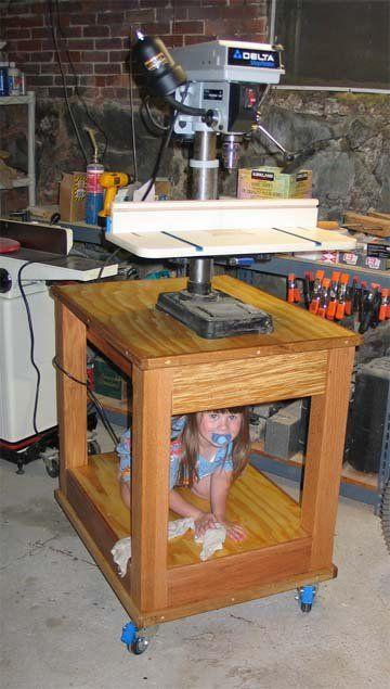 Drill press table - by firemedic @ LumberJocks.com ~ woodworking community