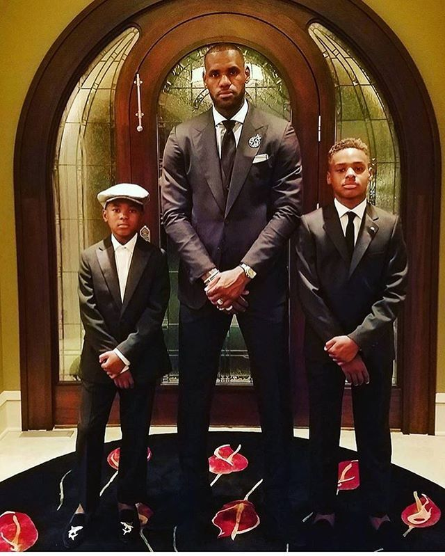 LeBron James and sons
