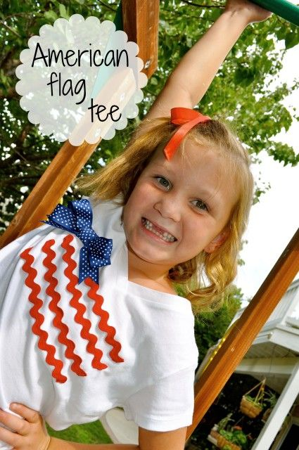 Easy DIY Little Girls American Flag Tee - Simple Sojourns