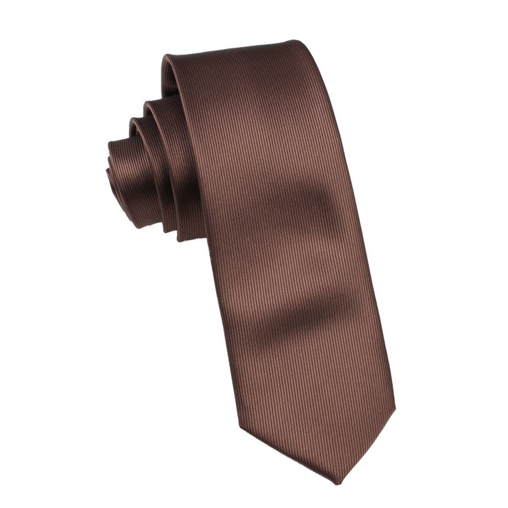 Dark Brown Skinny Tie | $25 | Thin Slim Narrow Ties by www.OTAA.com.au