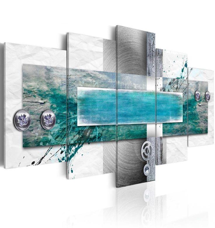 Impresión sobre tela Pleamar es un cuadro de cinco piezas que idealmente se verá en interiores como el salón o el dormitorio ღ