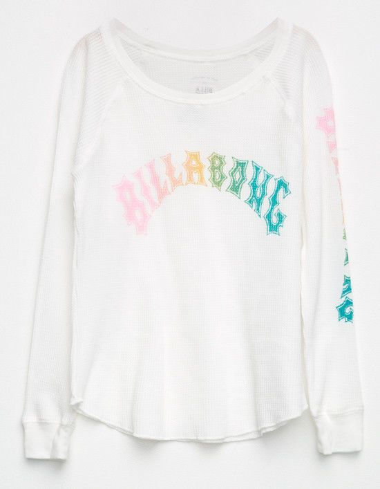 Billabong Girls L/S Heritage Thermal Top White Size M New  | eBay