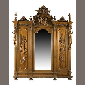 A Very Fine French Or Continental Renaissance Revival Walnut Suite Of  Bedroom Furniture Third Quarter Century