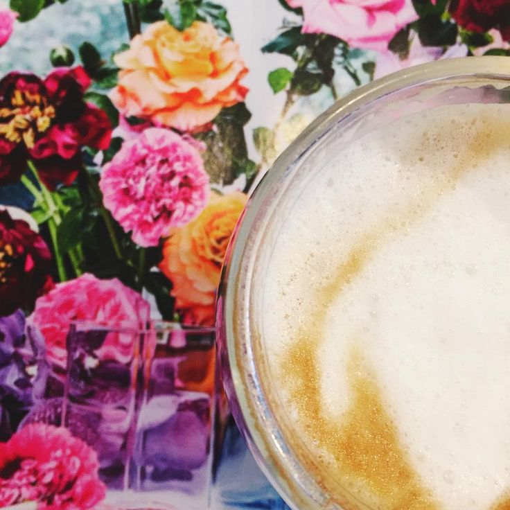 """Pretty blooms & a coffee"""