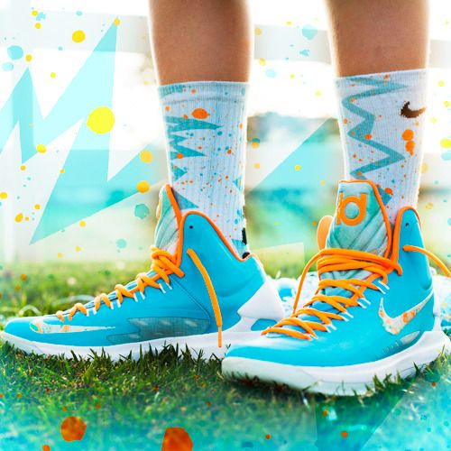 The Most Wanted Custom Nike Elite Socks - Thesockgame.com — KD5 Easter Quakes - Custom Nike Elite Socks