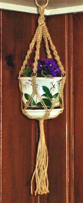Macrame - had some really elaborate full length ones hanging on each side of the fireplace. One was a plant holder and on had glass in it to for a two shelf hanging.  Mom also grew African violets.