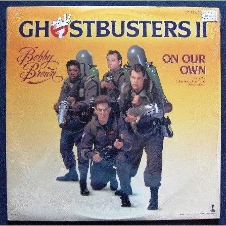 """1989 - Ghostbusters 2 - Bobby Brown - On Our Own - 7"""" Single - Picture Sleeve - Vinyl Record - Soundtrack - Ghostbusters"""