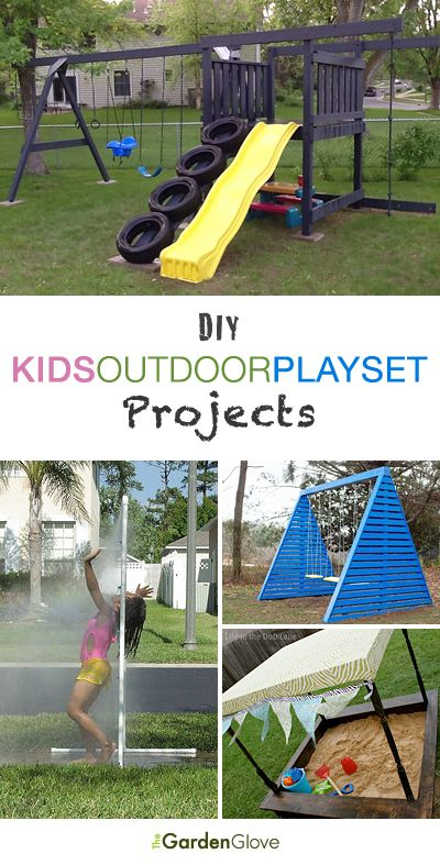 DIY Kids Outdoor Playset Projects • A roundup of 12 of the best projects we…
