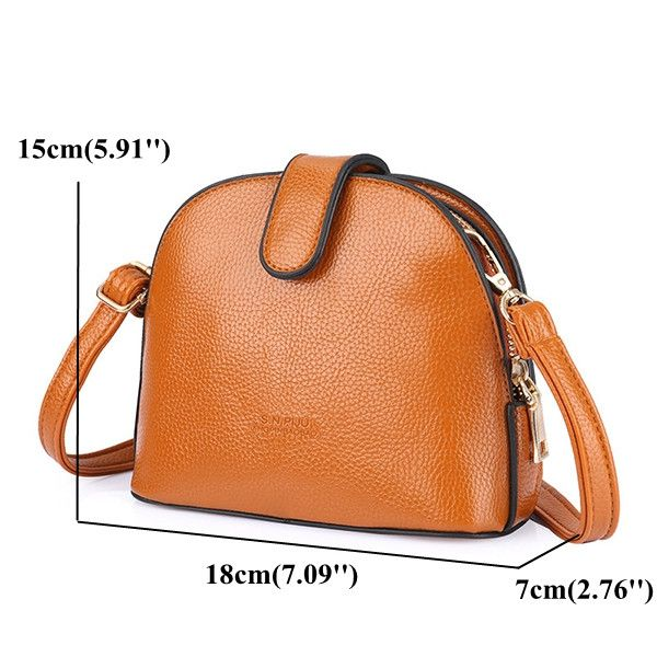 Material:PU Leather Lining Material:Polyester Color:Black, Brown, Wine Red Weight:280g Length:18cm(7.09'') Width:7cm(2.76'') Height:15cm(5.91'') Structure:Main Pocket,Zipper Pocket Closure:Zipper Package Include: 1 * Bag