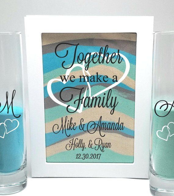 Blended Family Wedding Sand Ceremony Shadow Box Set Unity