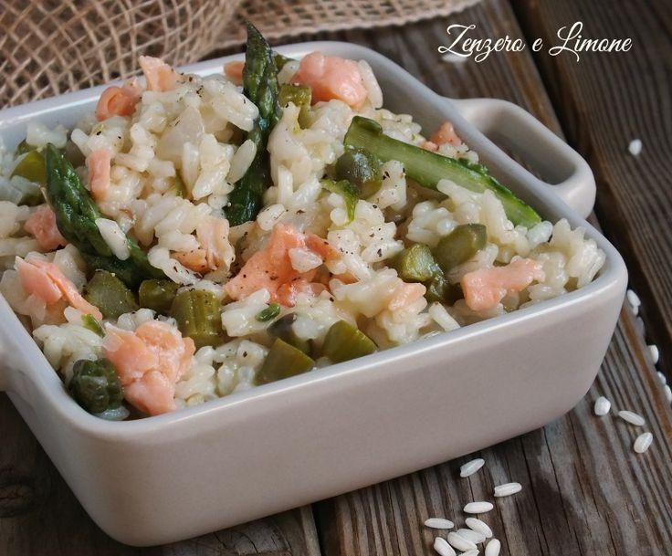 risotto agli asparagi e salmone -