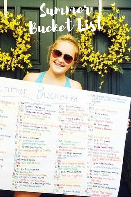 A Teen's Summer Bucket List - Start the summer off to a great one with your teen! Make a Summer Bucket list that is full of fun adventures and activities. Check out our list that will inspire your child.