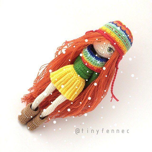 """Páči sa mi to: 480, komentáre: 3 – Sveta, Dollmaker from Russia (@tinyfennec) na Instagrame: """"Куколка 16 см ростом, 100% хлопок, проволочный каркас. Может принимать любые положения. Вся одежда…"""""""