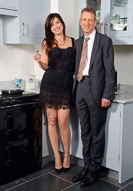 Daisy Lowe and AGA Rangemaster Group Chief Executive William McGrath