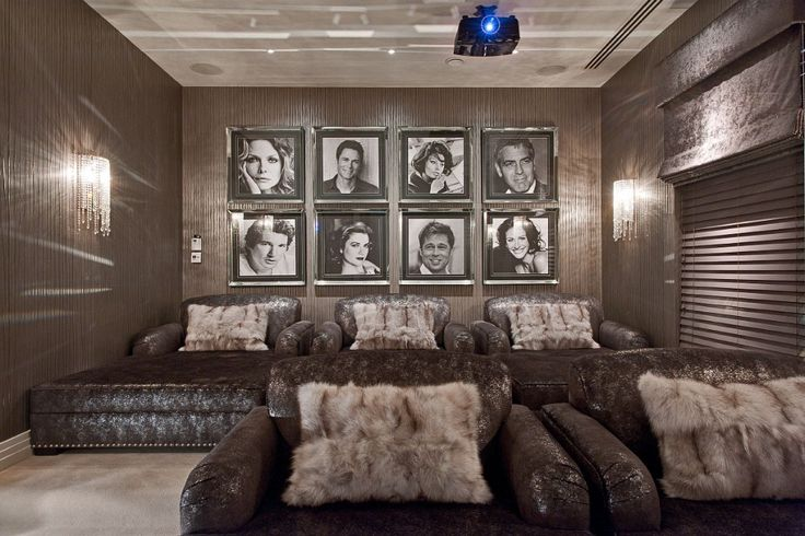 Cinema room by Hill House Interiors