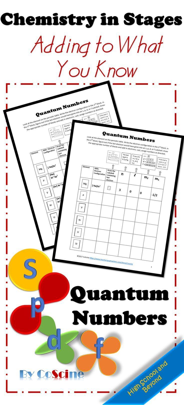 Quantum Numbers Spdf Super Teacher Worksheets Chemistry Worksheets High School Chemistry